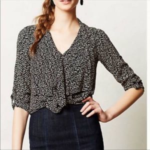 11.1 Tylho Anthropologie Miera Blouse
